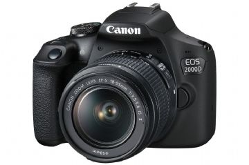 Canon EOS 2000D SLR Black Camera inc EF-S 18-55mm IS II Lens Kit
